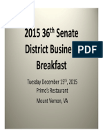 2015 36th District Business Breakfast Presentation