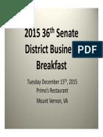 2015 36th District Business Breakfast Presentation