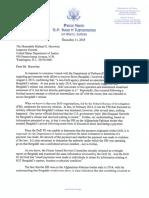 Rep. Duncan Hunter to DOJ Inspector General