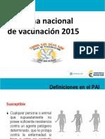 VACUNACION 2015