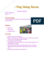 How to Play Relay Races for Kids