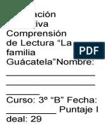 Preguntas La Familia Guacatela.