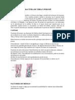 Fractura de Tibia y Peroné