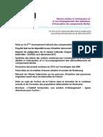 Dossier - Instances de pilotage de la mission campement - Décembre 2015