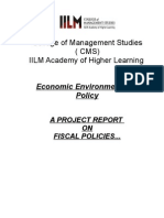 Fiscal Policy PROJECT