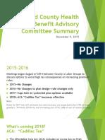 Merced County Health Benefit Advisory Committee Summary