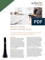 WiMAX CPEi 885 Data Sheet