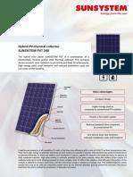 Panou Solar Hibrid Termic Si Fotovoltaic