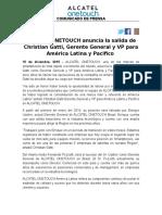NdP - Salida de Christian Gatti