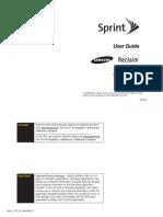 Sprint Samsung Reclaim