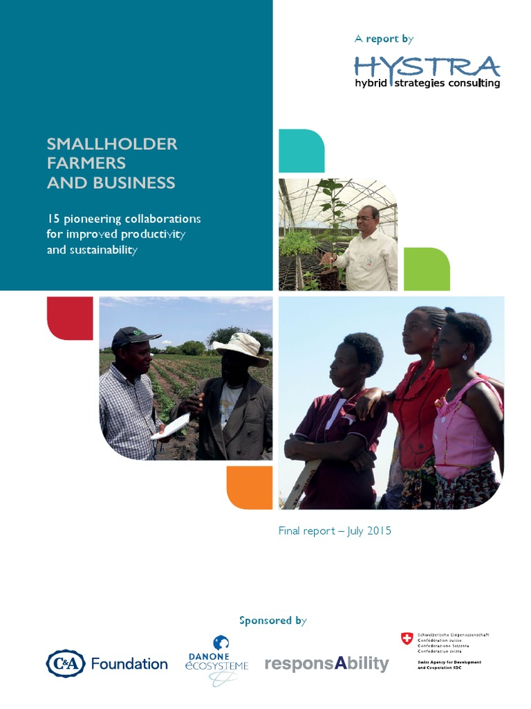 Hystra Report On Smallholder Farmers Cash Crop Farms Evoucer Mcdonald 40000