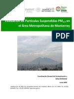 Reporte WG3 PM2.5 Monterrey