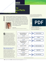 Six tips to improve spare parts management