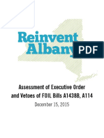 FOIL Veto and EO Assessment Dec 2015