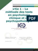 Echelle et test en psychologie clinique