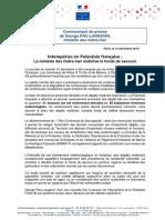 CP Intempéries en Polynésie Française La Ministre Des Outre-mer Mobilise Le Fonds de Secours