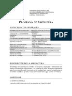 Programa Metodología de la Investigación Científica. Programa Actual