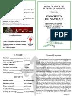 """Programa Concierto Navidad Banda de música IES """"Orden de Santiago"""""""