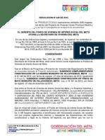 Resolucion Nº 449 de 2015