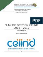 Plan de Gestión Ceiind 2016