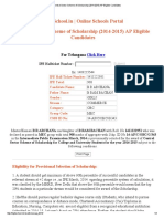 Central Sector Scheme of Scholarship (2014-2015) AP Eligible Candidates _ HighSchool
