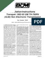 B&M Transpak Kit TH700