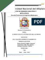 Defectos de La Fundicion de Aluminio.