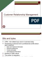 Customer relationship management system essay