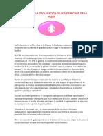 DECLARACIÓN DE LOS DERECHOS DE LA MUJER.