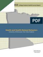 2015 College Student Health Survey Report from Boynton Health Service