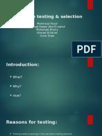 HR Testing & Selection