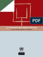La Inversión Extranjera Directa 2015 CEPAL