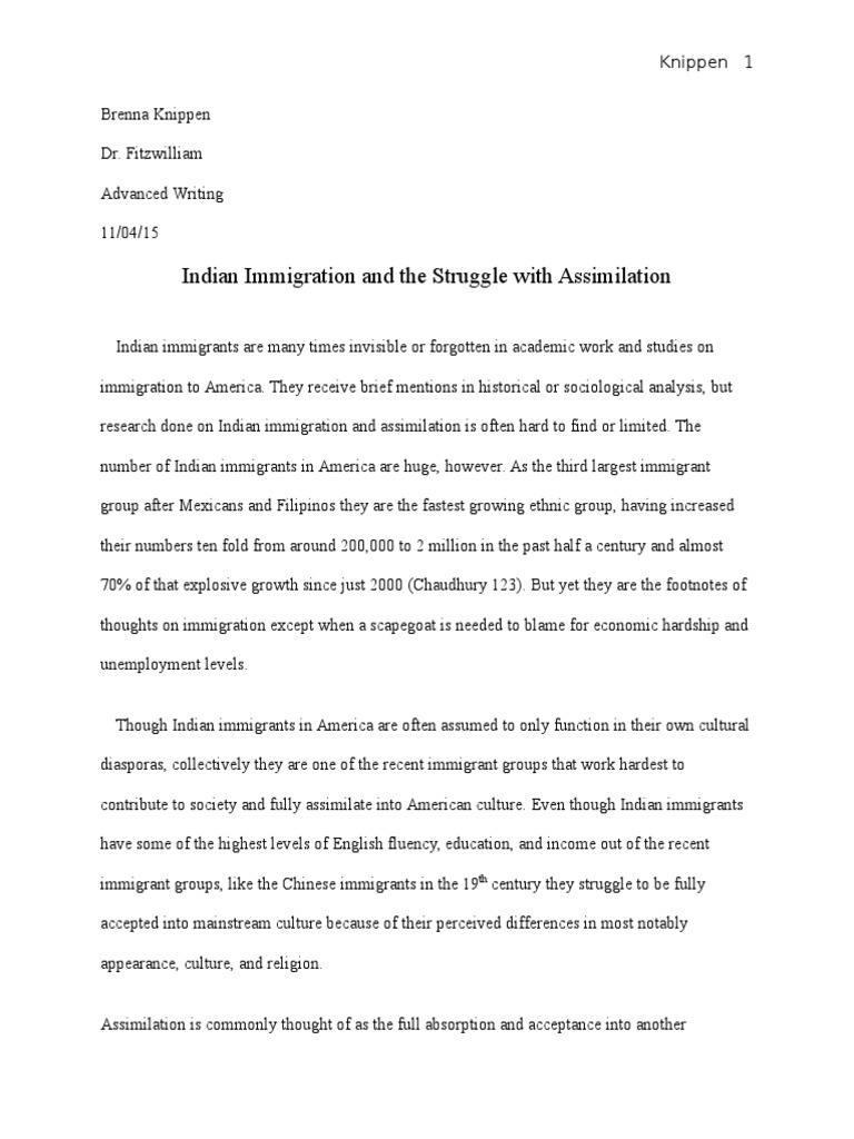 indian immigration to america essay example If you need a free sample term paper on immigration a midterm essay term paper on india at lower rates than do native-born americans for example.