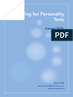 Preparing for Personality