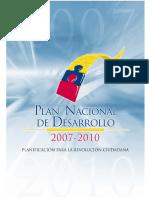 Plan Nacional Desarrollo 2007-2010