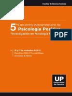 5to Encuentro Psicologia Positiva