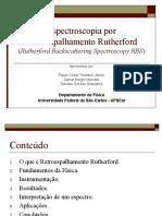 Espectroscopia por Espalhamento Rutherford - RBS
