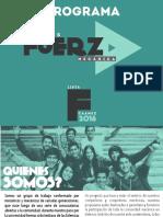 Programa Seamos Fuerza Mecánica - Lista F CAAMEC 2016