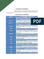 Factores de Conversion.