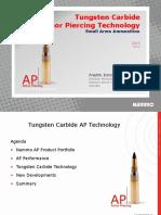 Tungsten Carbide Armor Piercing Bullet