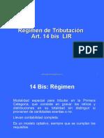 Régimen 14 Bis 14 Ter y 14 Quater