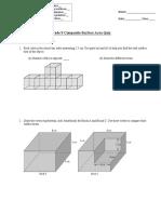 grade 9 composite surface area quiz