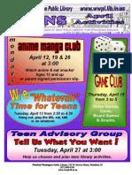 YA Newsletter Page Apr 2010