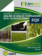 Analisis de Suelos y Fertilizacion en El Cultivo de Avena Forrajera Agrobanco