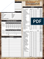 Warhammer Fantasy Roleplay 2nd Ed. - Editable Character Sheet