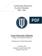 Clinical Rotations Manual 2015-2016