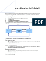 Requirements Planning in IS-Retail