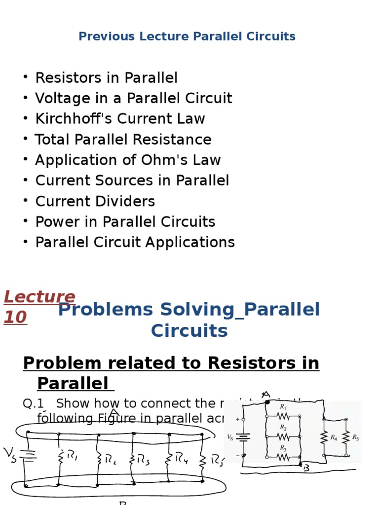 Parallel Resistance Circuit Eee121 Lecture 10 1 Series And Circuits Resistor