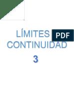 CALCULO U3 Límites y Continuidad
