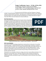 Urban Permaculture Design Certification Course - Winter-Spring 2016